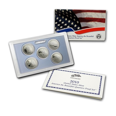 2010 USA America the Beautiful Quarters Proof Set